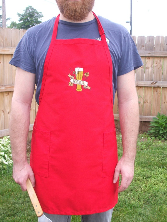 Beer Apron: embroidered