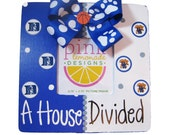 A House Divided Basketball Wood Handpainted Custom Picture Frame ANY Two Teams