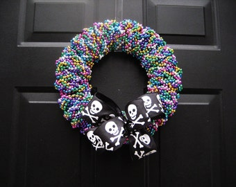 Tampa Gasparilla Pirate Parade Beaded Wreath