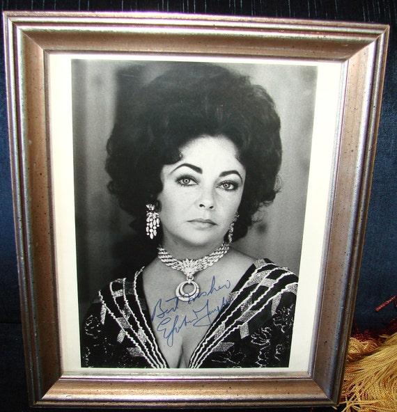 Signed Elizabeth Taylor Photograph