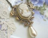 Bridal Elegance Cameo Necklace