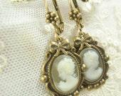 Wedding Her Majesty Cameo Earrings
