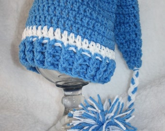 Crochet newborn sleeper hat