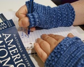 Knitting PATTERN: WOMEN'S Monday Sunday Fingerless Gloves - Hand knit fingerless gloves