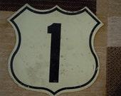 vintage US Rt road sign   US1