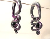 Heavy Lifting polymer clay gauged earring OR faux gauge - Made to Order - 8, 6, 4, 2, 0, 00, 7/16, 1/2, 9/16, 5/8, 3/4, 7/8, 1 inch