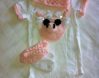 Little piggy onesie set
