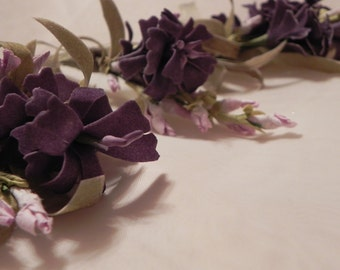 Boutonniere's Victorian Lilac with a Bonus Little Guy Boutonniere
