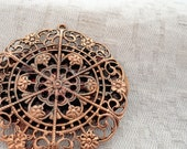 Ornate Filigree Brooch, Victorian Style, Golden Tone Floral Delicate Pin Brooch
