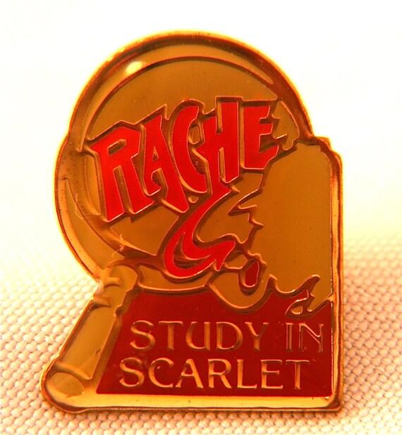 Sherlock Holmes Lapel Pin Study In Scarlet
