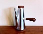 Mid Century Kalmar Steel and Teak Coffee / Tea Pot