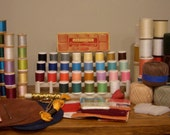 Vintage Lot of Thread and Sewing Supplies