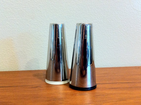 Atomic Steel Salt and Pepper Shakers