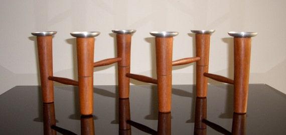 Mid Century / Danish Modern Laur Jensen Teak Candleholder