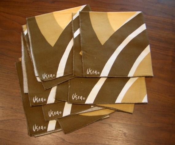 Vera - Brown and Yellow Napkins (set of 6)