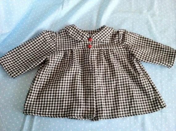 Vintage reproduction baby short coat - newborn - 1940s Cozy flannel. On Sale
