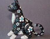 Cat Sculpture, Original, One of a Kind, Kitten, Clay