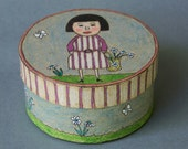 Childrens Art - Decorative Box - Hand Painted - One of a Kind