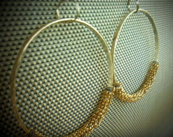Gold Hoop Earrings Statement Earrings Gold Earrings Large Hoops Beaded Earrings Big Earrings Handmade Jewelry Hoop Earrings Silver Gold Sale