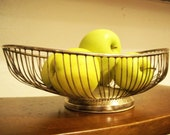 Vintage Leonard Silverplate Wire Fruit or Bread Basket