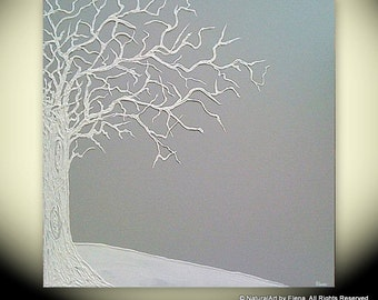 """Custom Original LARGE Abstract Textured Sculpture Painting, """"Dedicated to You"""" (Grey)"""