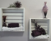 White Crates-Set of Two-Wall Hanging-Different Color Options Available