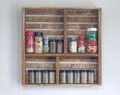 Spice Organizer for Kitchen - Wooden Spice Rack- Spice Rack For Wall - Spice Shelf- Kitchen Storage - Wood Spice Rack - Kitchen Shelving