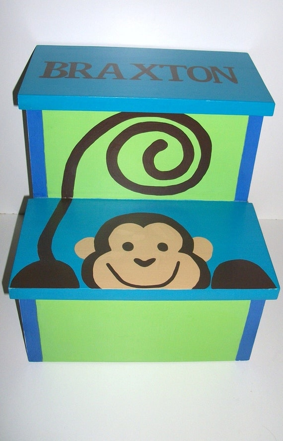 Like this item?  sc 1 st  Etsy & Bathroom Step Stool Monkey Step Stool Footstool Kids islam-shia.org