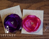 Custom Listing - Purple & Pink Satin bows with pearl centers