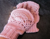 Crochet  Cuff / Fingerless / Gloves / Mittens / Arm Warmers with Pearls Beads
