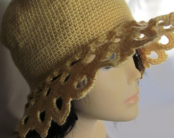 Sunshine Crochet Hat with Beautiful Ornament