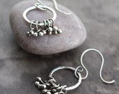 Fuse Fine Silver Hoops with Fine Silver Tendrils -- I May Be Simple But At Least I'm Pretty