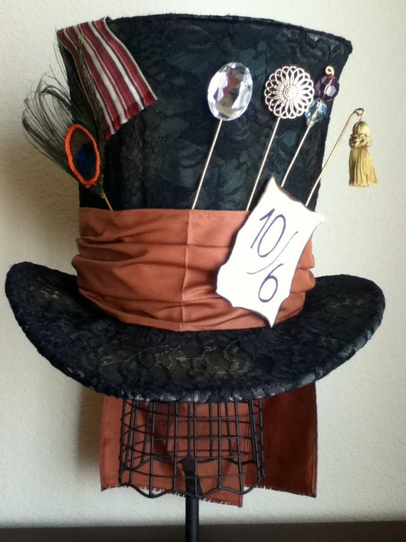 RESERVED for Kara Kemp- Tim Burton's Mad Hatter Top Hat