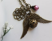 My Angel - Antique Golden Snitch Charm Necklace