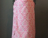 Nursing Cover with Matching Clutch- Hot Pink Damask