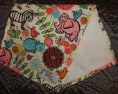 SUPER SOFT Burp Cloth-  Sweet Baby Safari