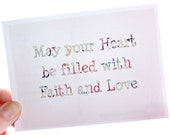 Inspirational Christian Postcard May YOUR HEART be FILLED