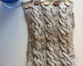 Twisted Cable Knitted Cowl
