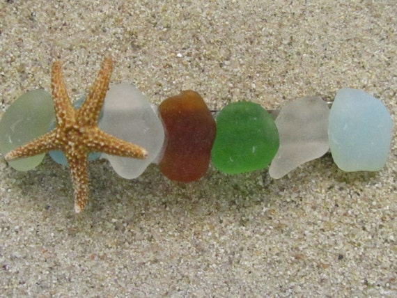 Sea glass Anuenue (Rainbow) Barrette
