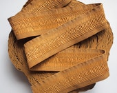 """4 yards of 2 1/4"""" Gathered Style Tan Colour Stretch Elastic Band"""