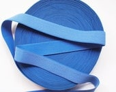 """4 yards of 1 1/4"""" Blue Furry Textured Elastic Stretch Band"""