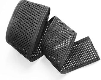 "3"" Unique Square Perforated Stretch Elastic Band. (1 Yard)"