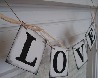 Wedding banner, LOVE Banner, Barn Wedding Decor, Sweetheart Table Decor , Wedding Decor, Bridal Shower Decor, Photo Prop