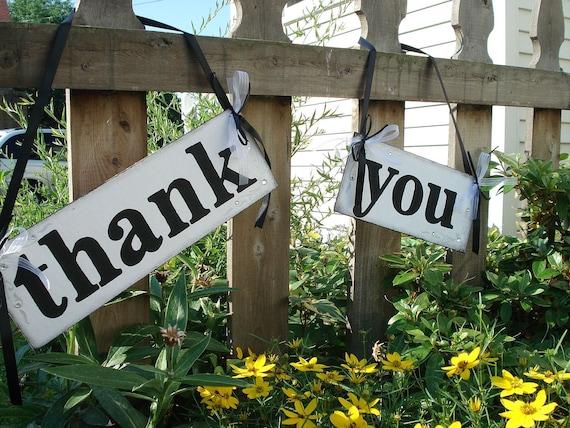 THANK YOU Signs Thank You Cards Photo Props Wedding Reception Decor