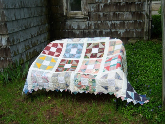 One Block Repeated  - A Scrap Quilt Pattern with 6 sizes included - Lap to King size.