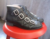 F-Troupe Black 4-Buckle Ankle Boots Size 36 / UK3 / US6