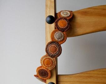 Wool Felt Headband ø Hand Embroidered ø Autumn ø LoftFullOfGoodies