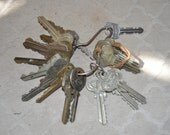 Key Ring of 21 Decorative Vintage Keys -
