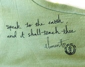 Reserved for Jennie - Women's Tshirt, Sage Green, Speak to the World, EcoWear, Medium - From my Daughter's Closet