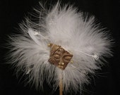 The Venetian Cocktail Hat, Feather Fascinator, Bridal